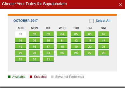 suprabatham dates