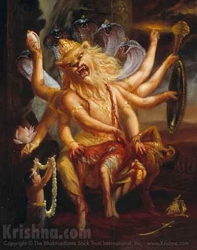 lord narasimha kills hiranya kasipa