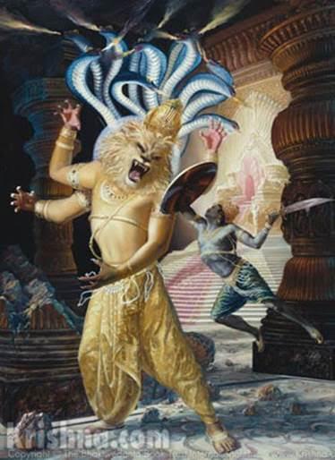 narasimha battles the king of Demons