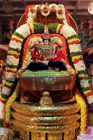 goddess Padmavati Devi on chinnasesha vahanam